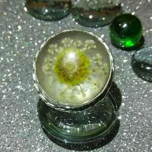 Jewelry - Italian Murano Glass Flower Ring Boho Vintage
